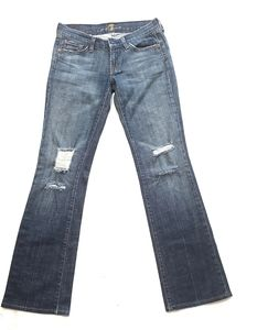 NWOT 7 For All Mankind Bootleg Distressed Jeans